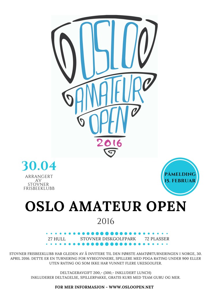 Oslo Amateur Open 2016 flyer